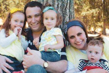 Shulamit Martin of Yishuv Adam, Geva Binyomin, Israel with Family
