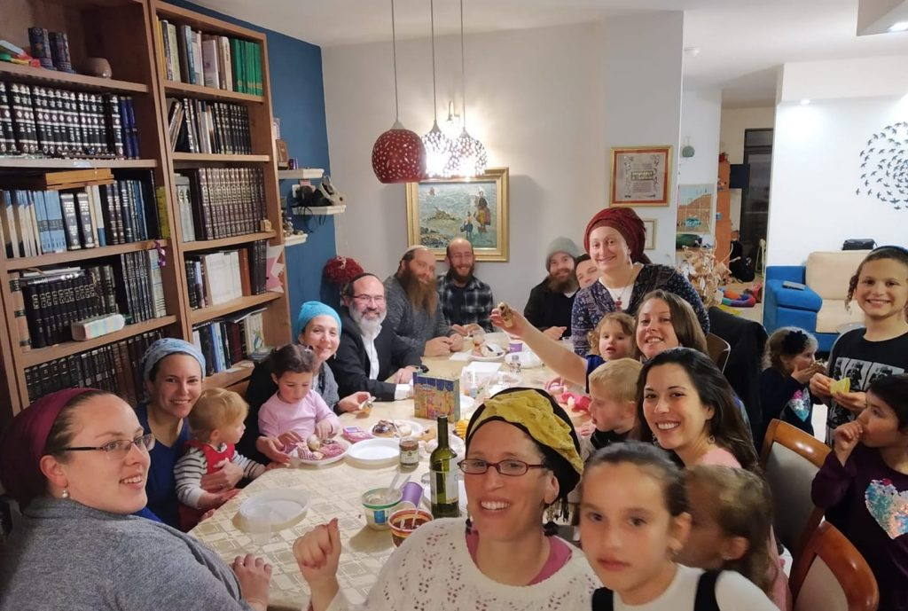 Sarah Spodek, Miriam Leichmann, Shalom Miller, Batya Miller in Geva Binyamin / Yishuv Adam