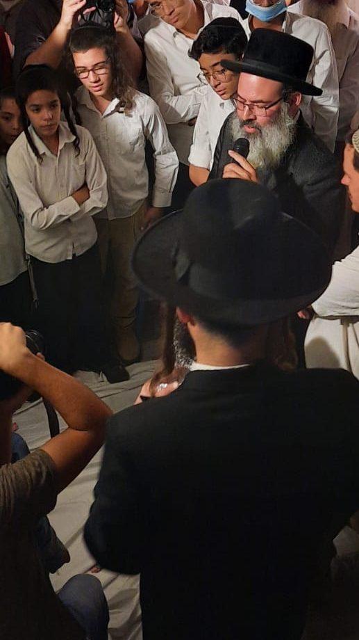 Shalom Miller, Tuvia Miller at Gideon Aronovich wedding