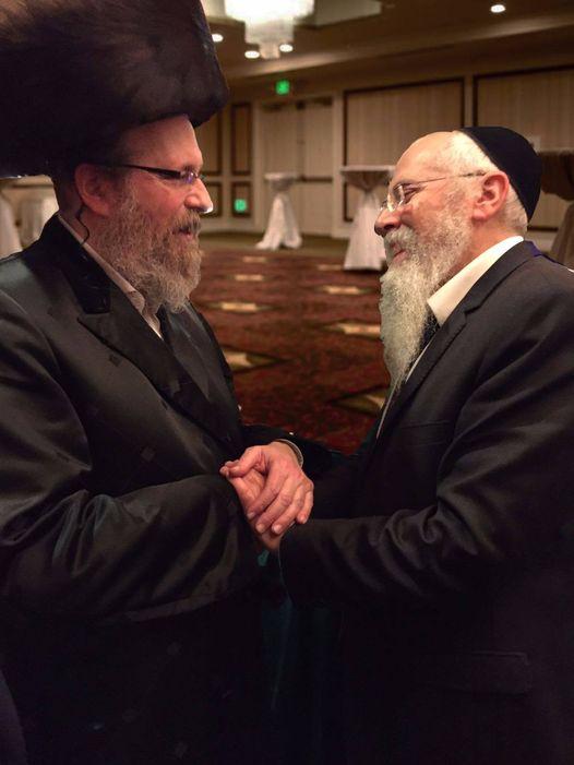 Rav Moshe Weinberger with Rav Yoel Rackovsky